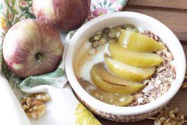 yogurt e mele per colazione