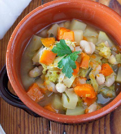 minestrone con verdure invernali